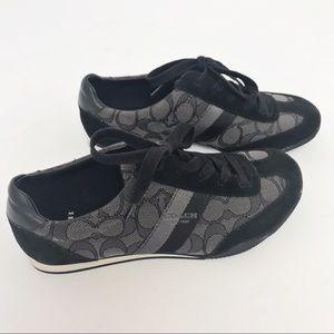 Coach Shoes - COACH | Kelson Signature Black Smoke Sneaker 6.5